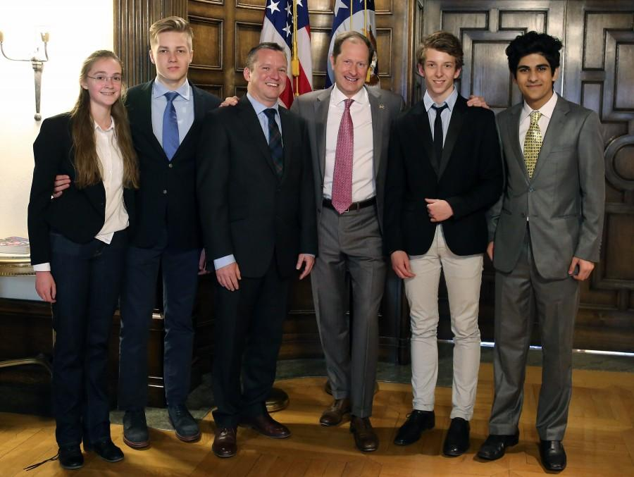 The Economics students and teacher that attended the panel discussion with the Ambassador of the United States of America.