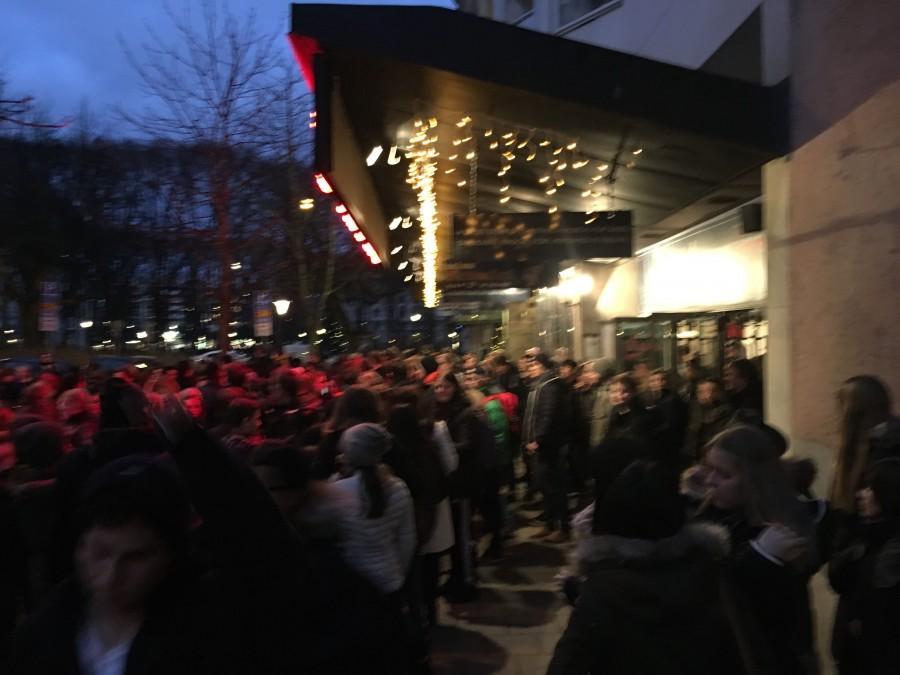 Outside Maxim Theatre.