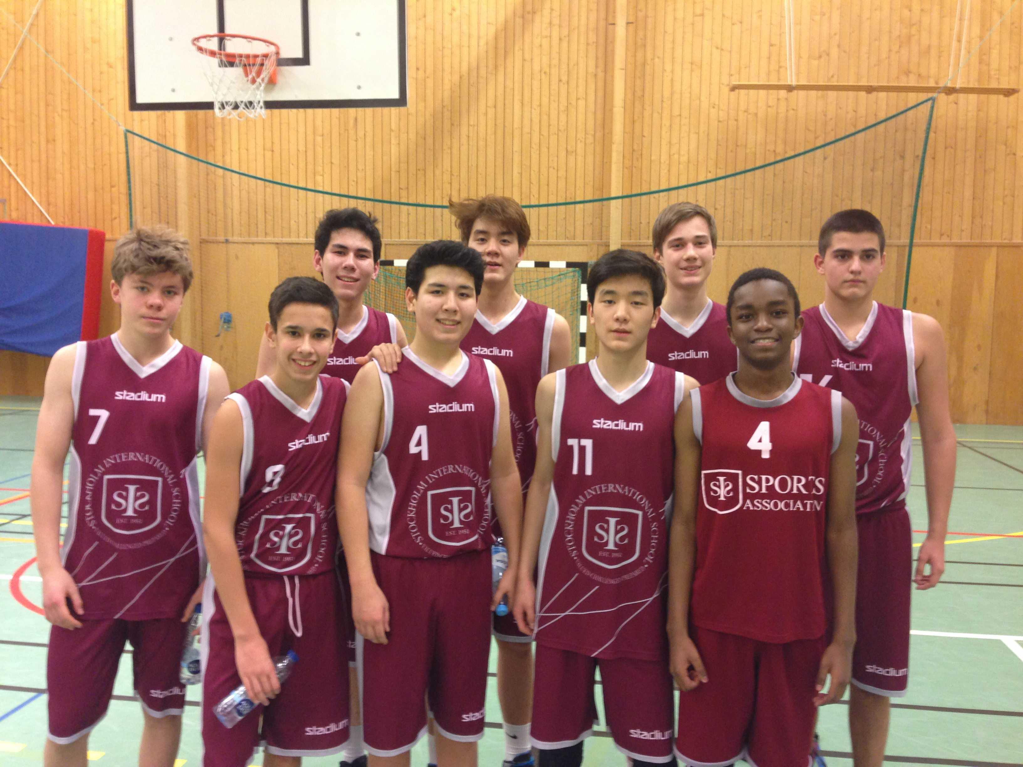 Senior Boys team at Sigtuna