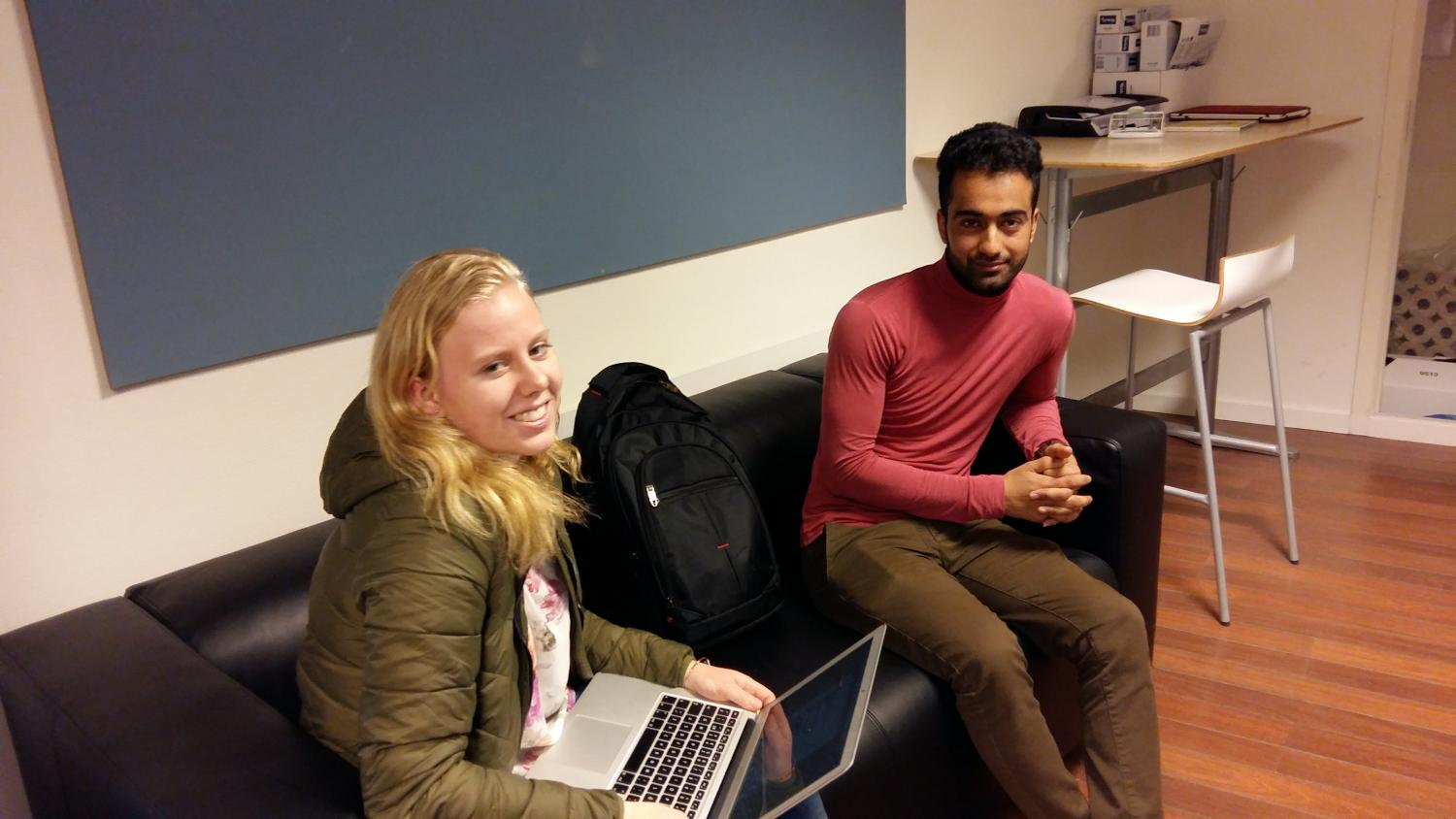 Our QQ editor Sophie and Shahram
