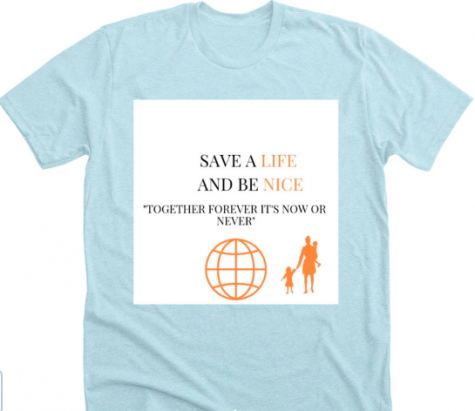 The T-shirt designed by grade 7