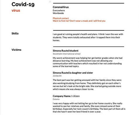 A Resume for Covid 19